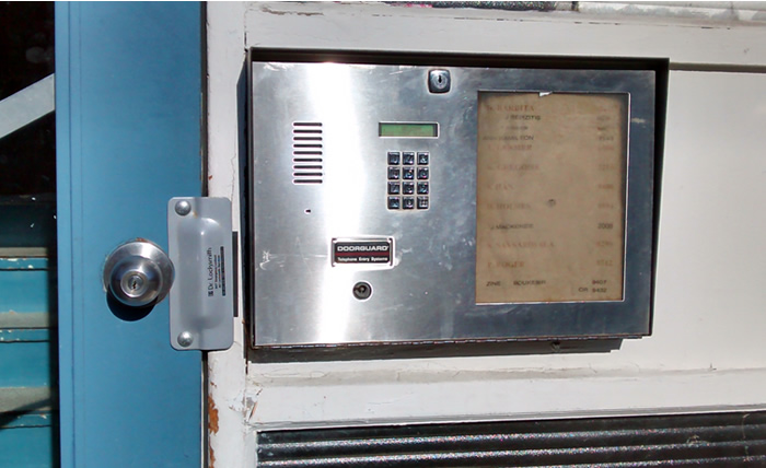 door-guard telephone intercom system